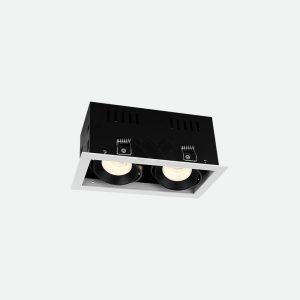 Two head trim led spot light